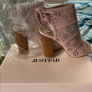 JustFab open toed booties